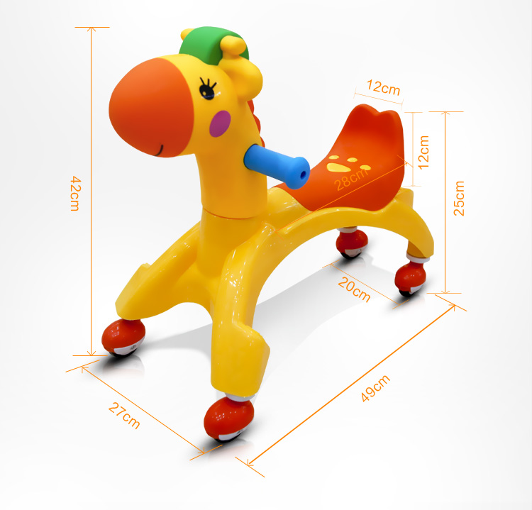цена на Rastar Brand Toy Four-wheeled Scooter Kids Baby Walker Toy Riding Toys Cars Kids Children Balance Bikes Scooter Baby Walker