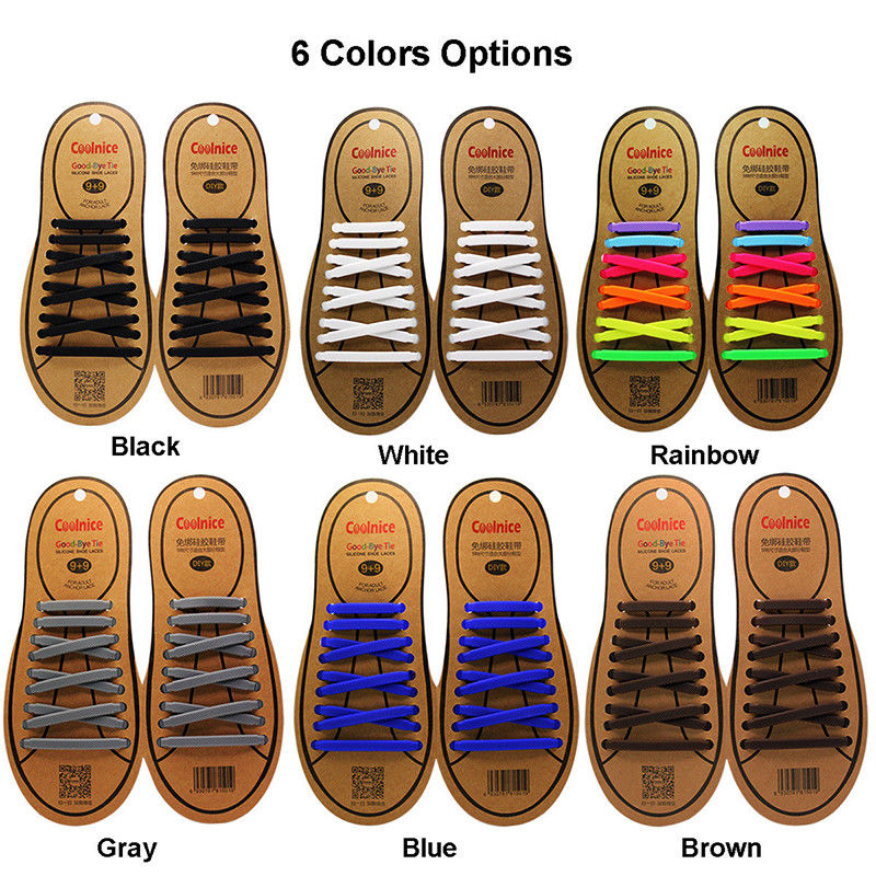 2pack Novelty No Tie Shoelaces Unisex Elastic Silicone Shoe laces for Kids and Adults All Sneakers Fit Strap цена