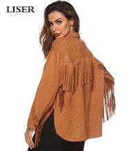 LISER 2019 Spring Coats and Jackets Women Windbreaker Casual Tassel Streetwear Veste Femme