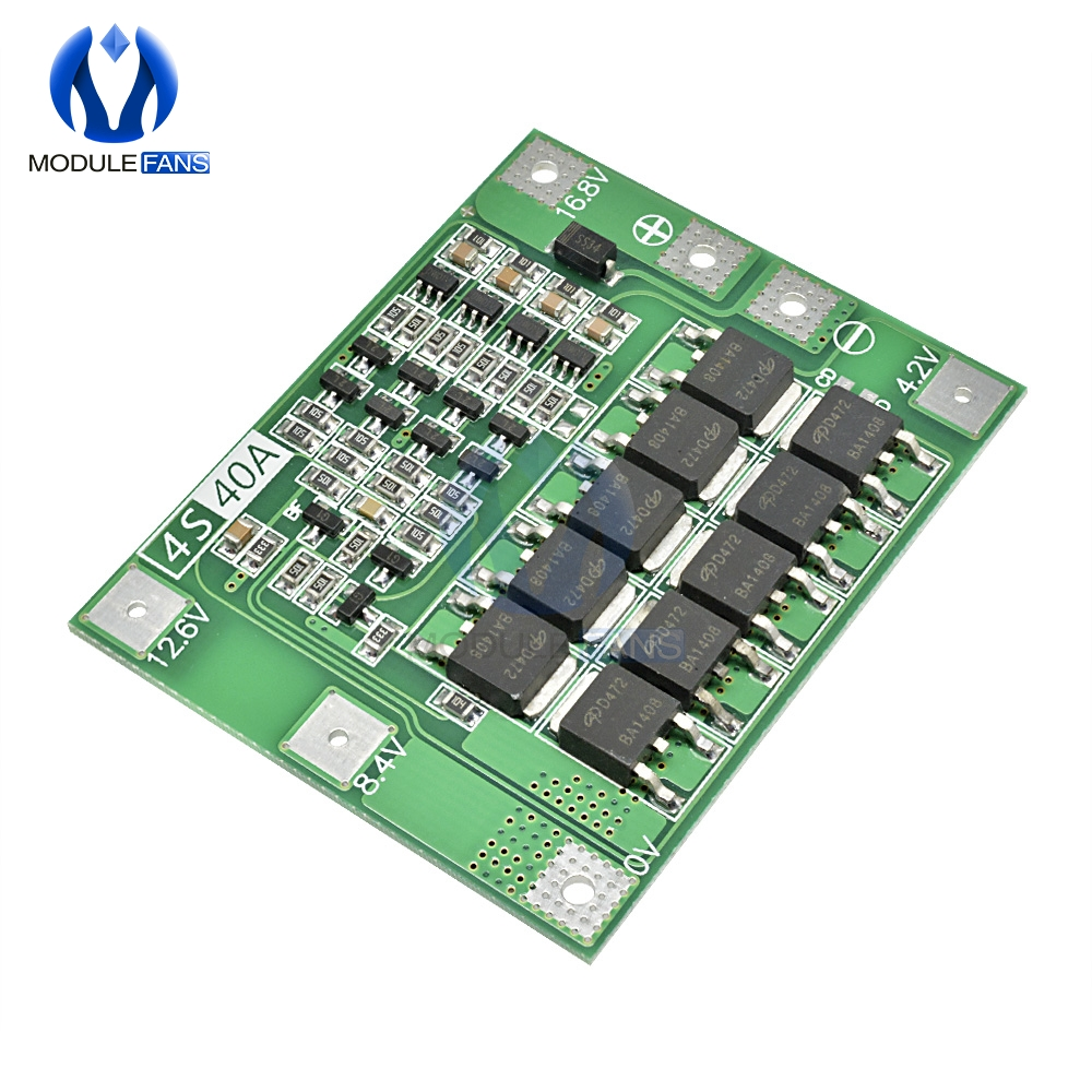 4S 40A Li-ion Lithium Battery Protection Board 18650 Charger PCB BMS For Drill Motor 14.8V 16.8V Enhance Diy Electronic Module(China)