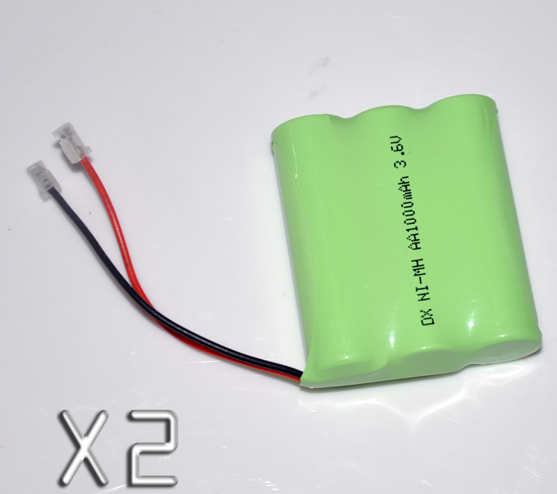 2PCS 3.6V AA 1000mah rechargeable battery pack 2A ni-mh nimh batteries NI MH cell for RC toys emergency light cordless phone A