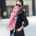HQ 18 Colors 2017 New Women Winter Solid Candy Color Silk Scarves Shawls All-match Women's Scarf Ultra Long Scarf Cape NXH01139