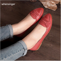 2017 Women S Shoes New Article Myanmar Handmade Leather Art Retro Casual Single Female Shoes