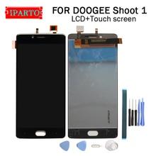 5.5 بوصة DOOGEE تبادل لاطلاق النار 1 شاشة الكريستال السائل + مجموعة المحولات الرقمية لشاشة تعمل بلمس 100% الأصلي جديد LCD + اللمس محول الأرقام لاطلاق النار 1 + أدوات
