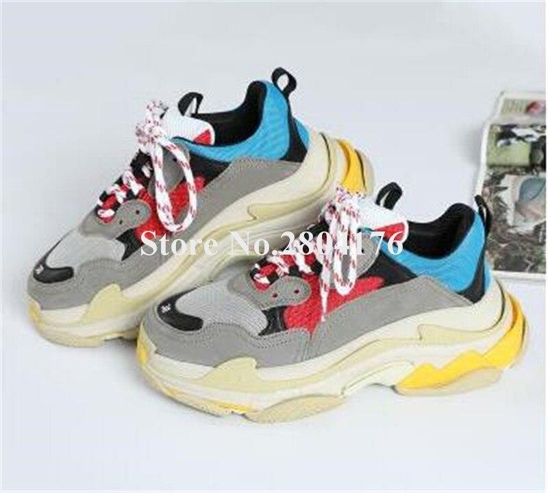 Новинка; Модные женские Разноцветные кеды на высокой платформе с круглым носком; женские кроссовки из натуральной кожи; спортивная обувь на плоской подошве
