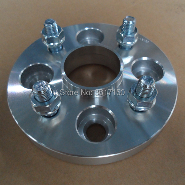 "5x100 to 5x120 US Wheel Adapters 1/"" Thick 12x1.5 Studs 57.1 Bore x 4 Billet"