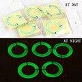 3D чехол для автомобильного зажигания, светящееся кольцо для ключей, крышка для отверстия, стикер для стайлинга автомобиля
