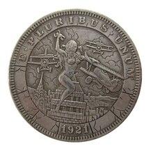 Дата 1921 США Хобо Морган доллар монеты КОПИЯ