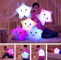 Baby Kids Toys Led Light Pillow Luminous Pillow Christmas Toys Plush Pillow Colorful Stars Birthday Gift Room Decoration Romatic
