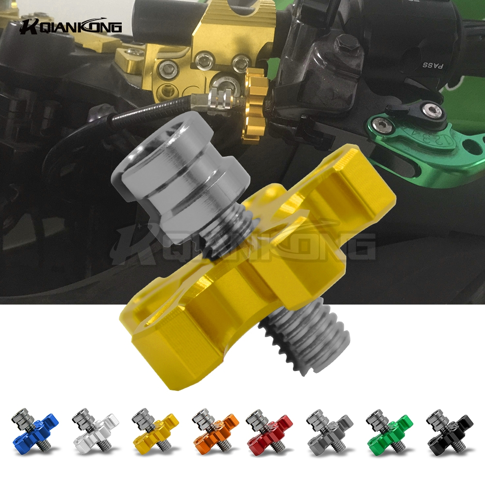 CNC M8 Motorcycle Clutch Cable Wire Adjuster For HONDA CB650f Crf 230/250/450 Dio Crf250r Vtx Cb190r Cbr1100xx XR250 Accessories motorcycle accessories throttle line cable wire for honda cbr250 cbr 250 cbr19 mc19