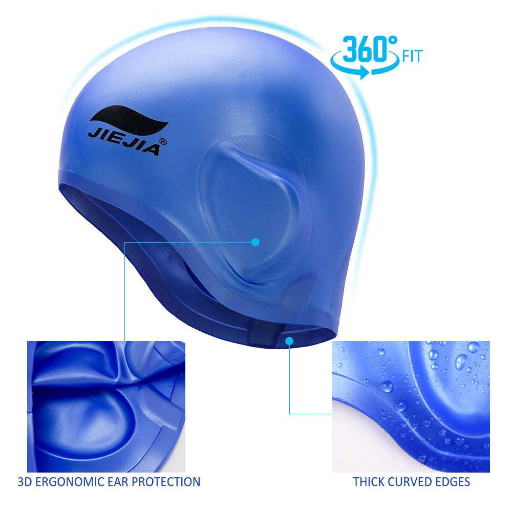 ציוד השחייה סט עם לשחות Goggle לשחות כובע אוזן תקעים & האף קליפ לנשים גברים שחייה צלילה מים ספורט