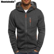 Mountainskin New Mens Hoodies Casual Hooded Coat Spring Autumn Sportswear Male Cardigan Sweatshirt Mens Brand Clothing SA621