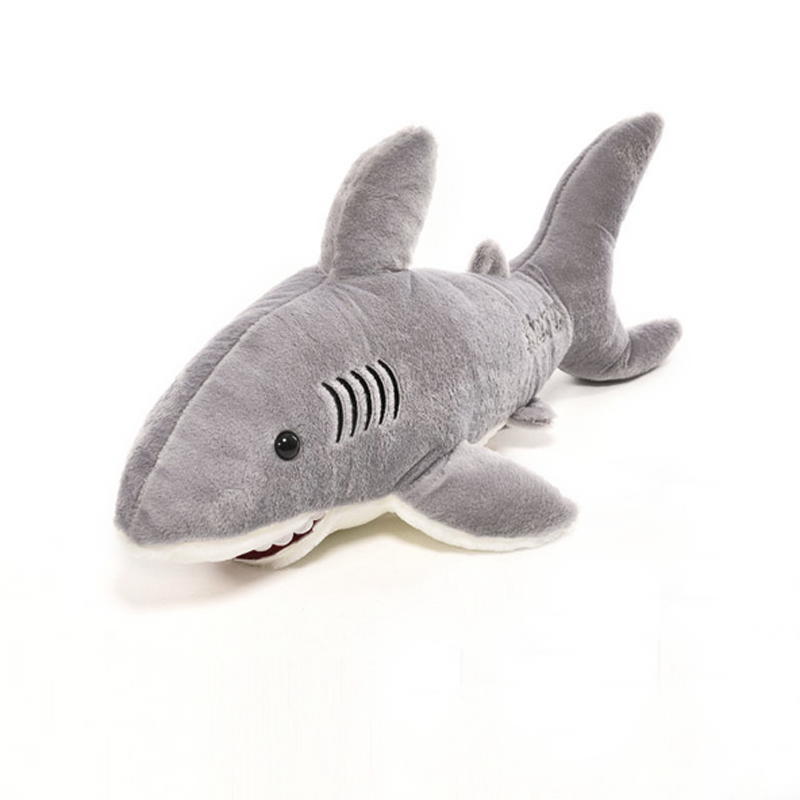 Shark Plush Toys : Pc kawaii stuffed dolls soft plush marine animal gray