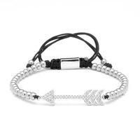 Magic Vis Armband Titanium rvs kralen Zirkoon Pijl Weave kant-up Charms liefde armband Armbanden voor vrouwen Pulseras