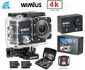 Wimius Action Camera 4K wifi HD 16MP Sports Video Car DVR Go Waterproof 40M pro + 2.4G Wireless Remote Control+Protective DV Bag
