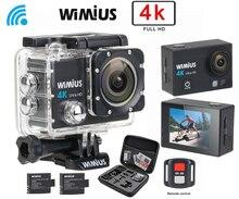 Wimius Действий Камеры 4 К wi-fi HD 16MP экшн камера Спорта Видео Автомобильный ВИДЕОРЕГИСТРАТОР перейти Водонепроницаемый 40 М pro фотоаппарат + 2.4 Г Беспроводной Пульт Дистанционного Управления + Защитной DV Мешок
