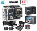 Wimius action camera 4 k wifi hd 16mp câmera de vídeo de esportes dvr carro ir Controle Remoto Sem Fio À Prova D' Água 40 M pro + 2.4G + DV Saco de Proteção