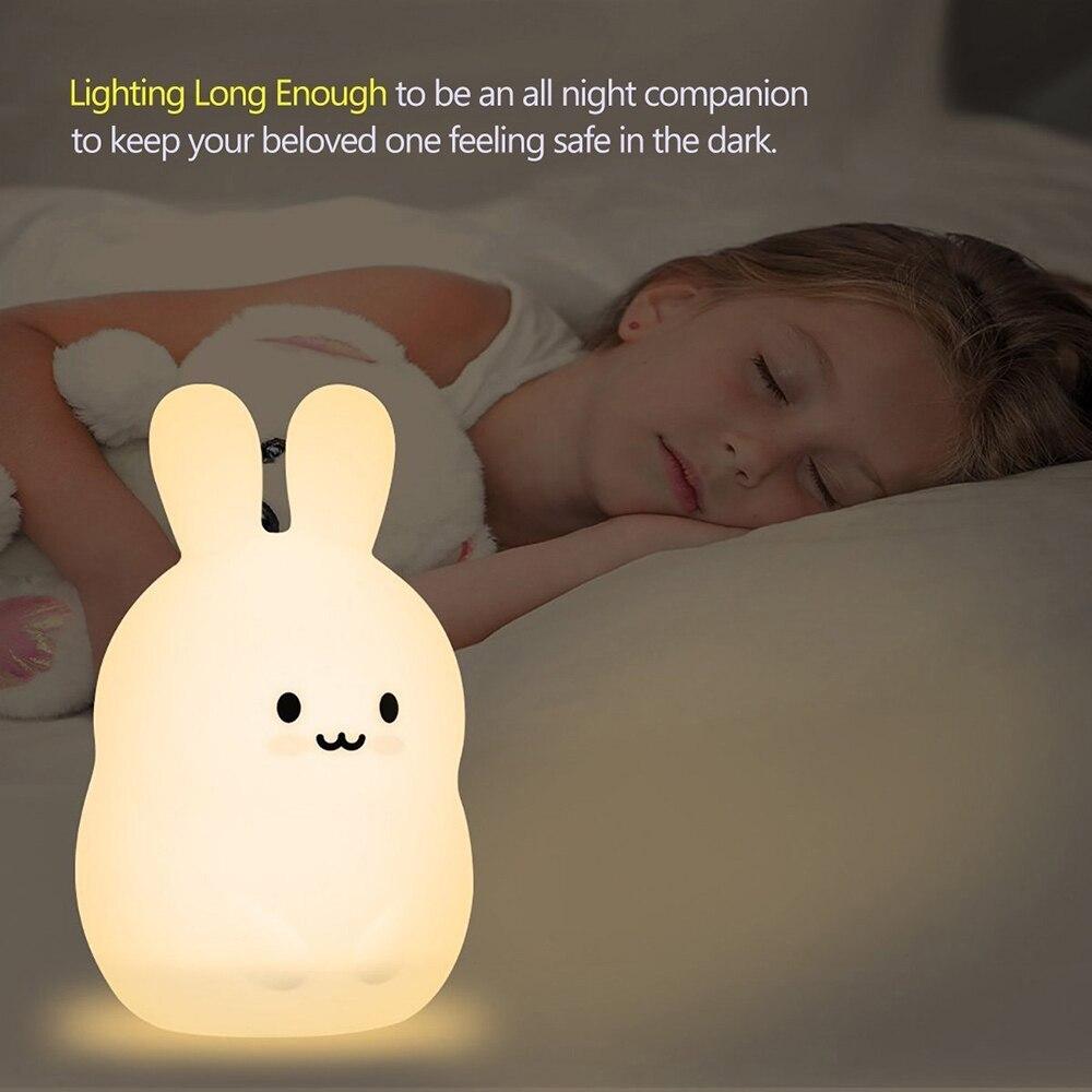 lâmpada 9 cores usb recarregável sensor de