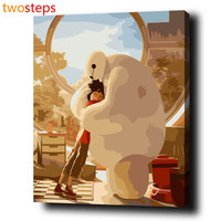 Baymax Embrace DIY Digital Canvas Oil Painting By Numbers Pictures Coloring By Numbers Modern Large Acrylic