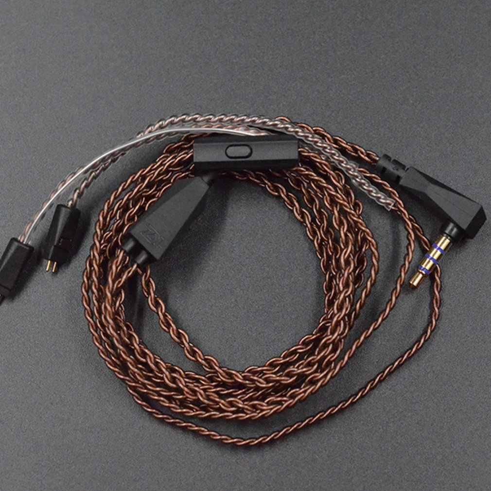 Przewód słuchawkowy o wysokiej czystości tlenu-darmowa miedziana Twisted kabel do aktualizacji 2 Pin kabel do KZ ZS10/ZST/ES3/ES4/ZS6/ZSA/ED16