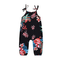 MUQGEW 2019 Hot Sale Infant Baby Girl Floral Print Sleeveless Strap Romper Jumpsuit Playsuit Outfits Dropshipping Baby Clothes(China)