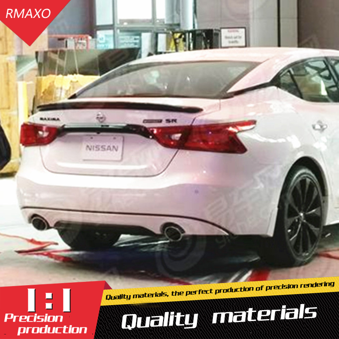 For Maxima Spoiler ABS Material Car Rear Wing Primer Color Rear Spoiler Press the tail For Nissan Maxima Spoiler 2017