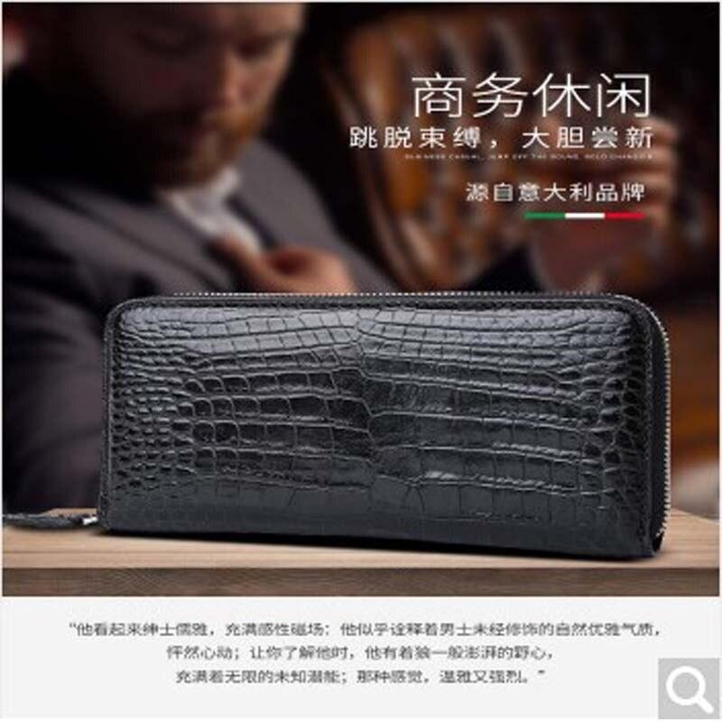 Feikebeike 2018 новая версия реальный крокодиловой кожи мужчины клатч мужчины сумка Кошелек большая емкость сумки все ручной работы