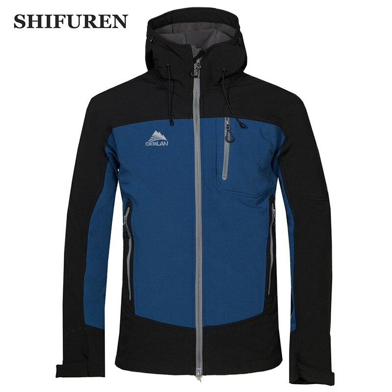 SHIFUREN veste Softshell extérieure coupe-vent imperméable pour hommes vestes de randonnée hiver épaissir chaud Trekking Camping veste de Ski