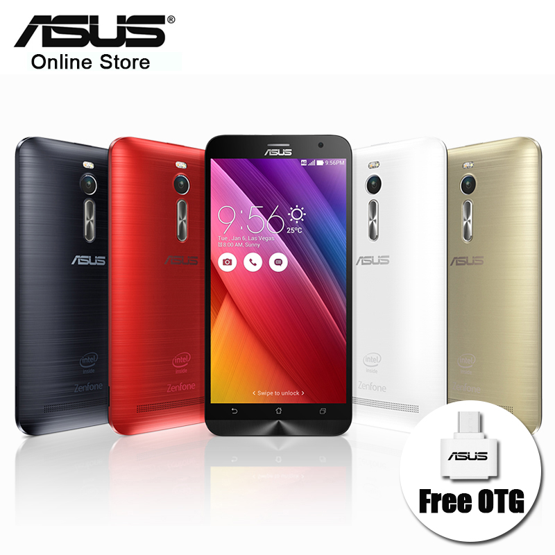 100% Original Asus ZenFone 2 ZE551ML 4GB RAM 32GB ROM Mobile Phone 5.5'' Intel Z3580 Quad Core 1920*1080 FDD LTE 13MP 2.3GHz NFC