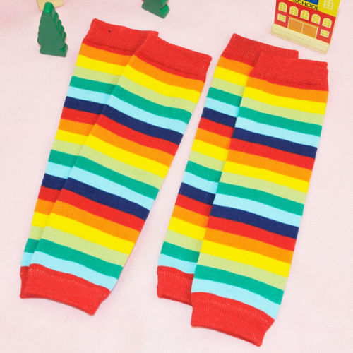Newborn-Toddler-Kids-Boy-Girl-Winter-Leg-Warmer-Tights-Cute-Rainbow-Stripe-2