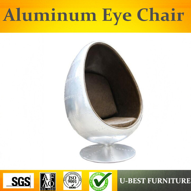 U BEST Industriel Cuivre Aviator Spitfire Aluminium Swivel Oval Egg Pod Eye  Ball Chair