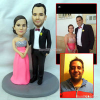 OOAK свадебный торт Топпер торт Декор подарок для друга подруги невесты и жениха подарки идея настоящий кукольный домик ручной статуя