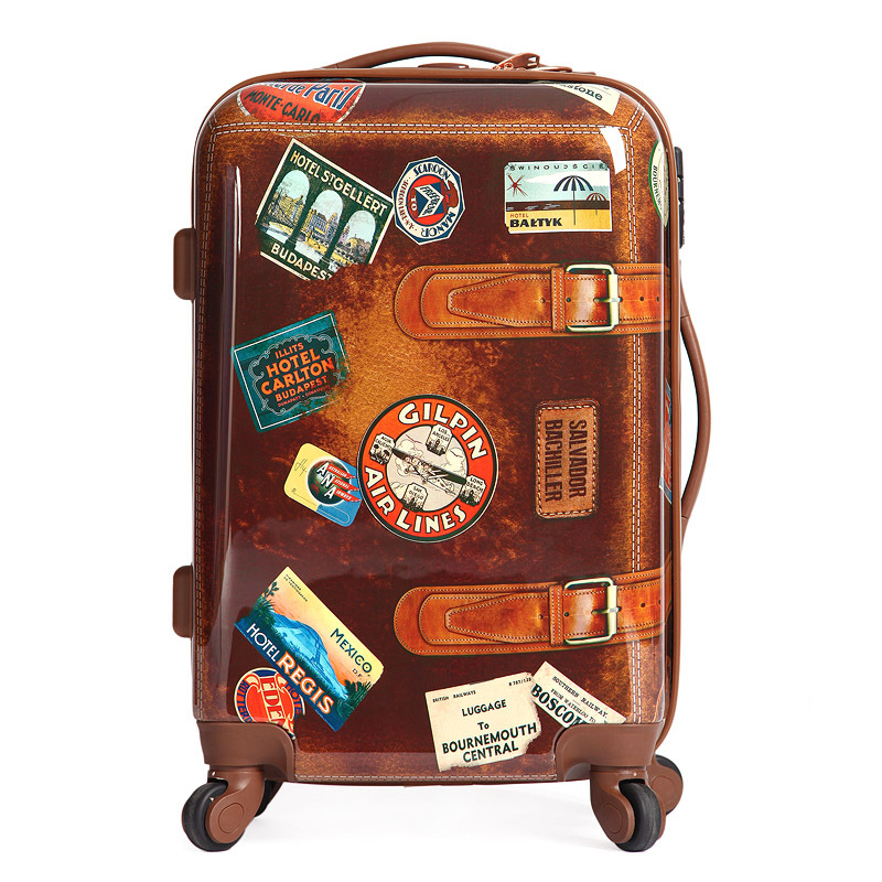 buy personality vintage style luggage men and women travel suitcase abs pc. Black Bedroom Furniture Sets. Home Design Ideas