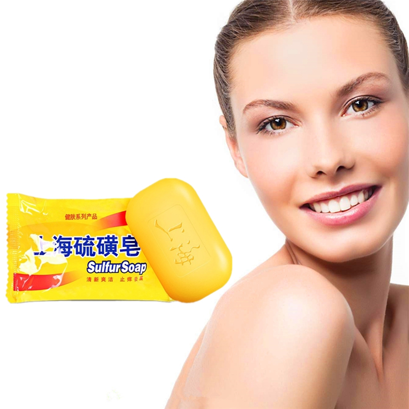 2019 Hotest Newest China Sulfur Soap Skin Conditions Acne Psoriasis Seborrhea Mite Anti Fungus 85g