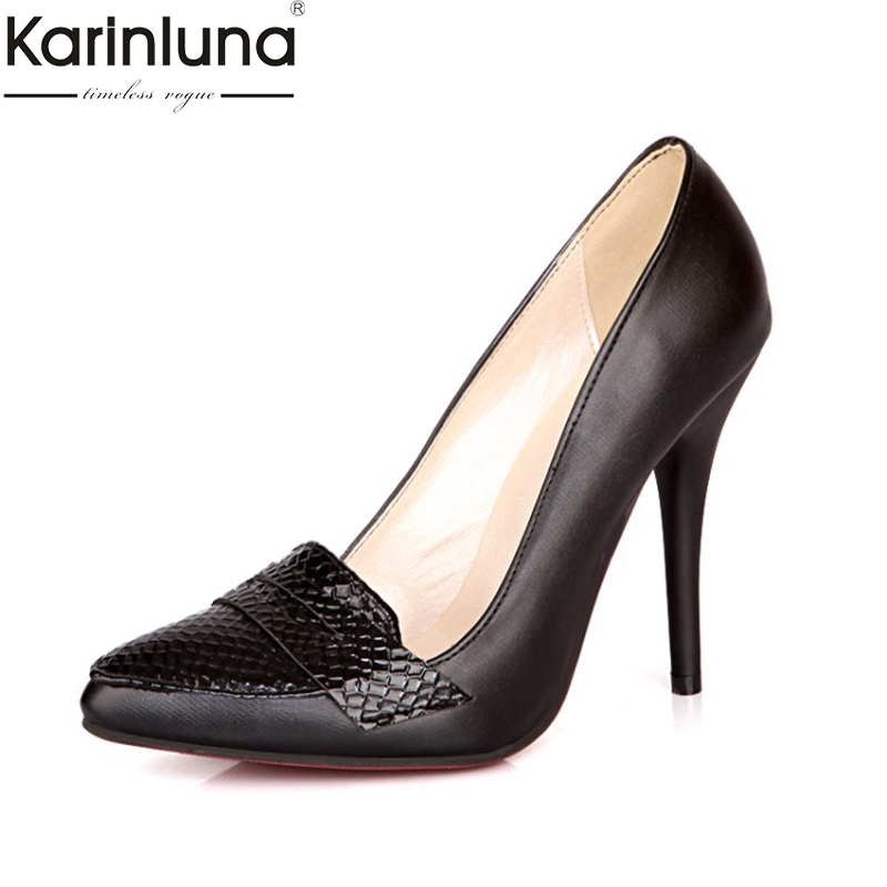 Karinluna Sexy Chic Style 2019 Brand New Plus Size 48 Thin High Heels Elegant Office Lady Classics Women's Shoes