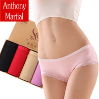 4Pcs Lot Mid Rise Fashion Process Cotton Women S Panties Seamless Sexy Underwear Cotton Briefs Plus