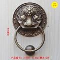 All brass door 13.5cm round Lion Head Knocker handle door handle wood villa