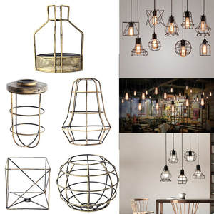 Shop discount cage lamp shade smuxi retro vintage industrial lamp covers pendant trouble light bulb guard keyboard keysfo Image collections