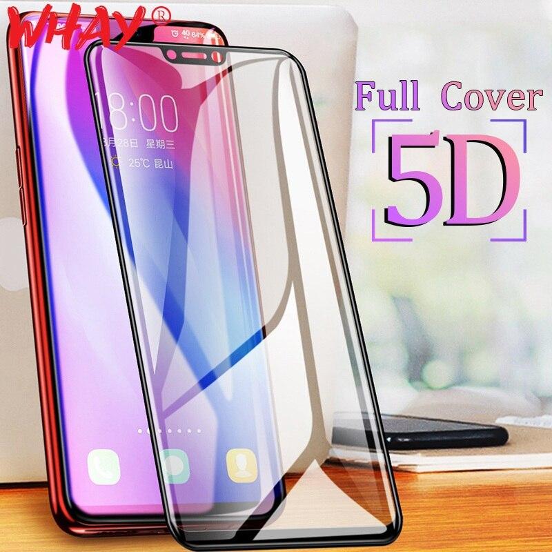 V9 GzPuluz Glass Protector Film 25 PCS 9H 5D Full Glue Full Screen Tempered Glass Film for Vivo X21