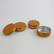 50pcs x 60g gold aluminum metal jar container 60ml Make Up Comsetic Packaging Bottle Pot for facial hand cream powder gel use
