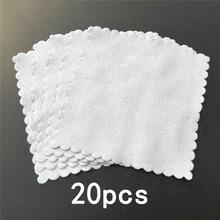 20pcs Cleaning cloths Nano Ceramic Car Glass Coating Microfiber Accessories Lint-Free 10*10cm Polisher Detailing