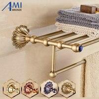 12 Petals Series Antique/Gold/Black/Rose Brass Towel Rack Continental Bathroom Accessories Sanitary Wares Towel Rack Towel Shelf
