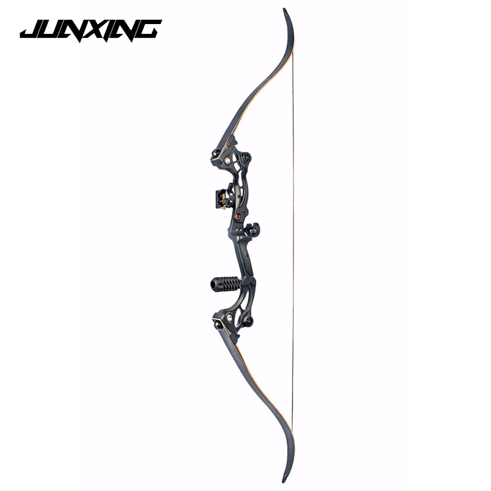 High Quality 64 inches Black Recurve bow of 30-55 lbs IBO Speed 175 fps for Archery and Hunting with Arrow Rest