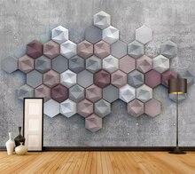 Beibehang пользовательские обои 3d Ретро Алмазная стена гостиная