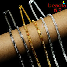 2015 New women Necklaces & Pendants Fashion 2pcs/lot Rhodium & Silver & Connector Necklace Chains (PS-FLB)(China)