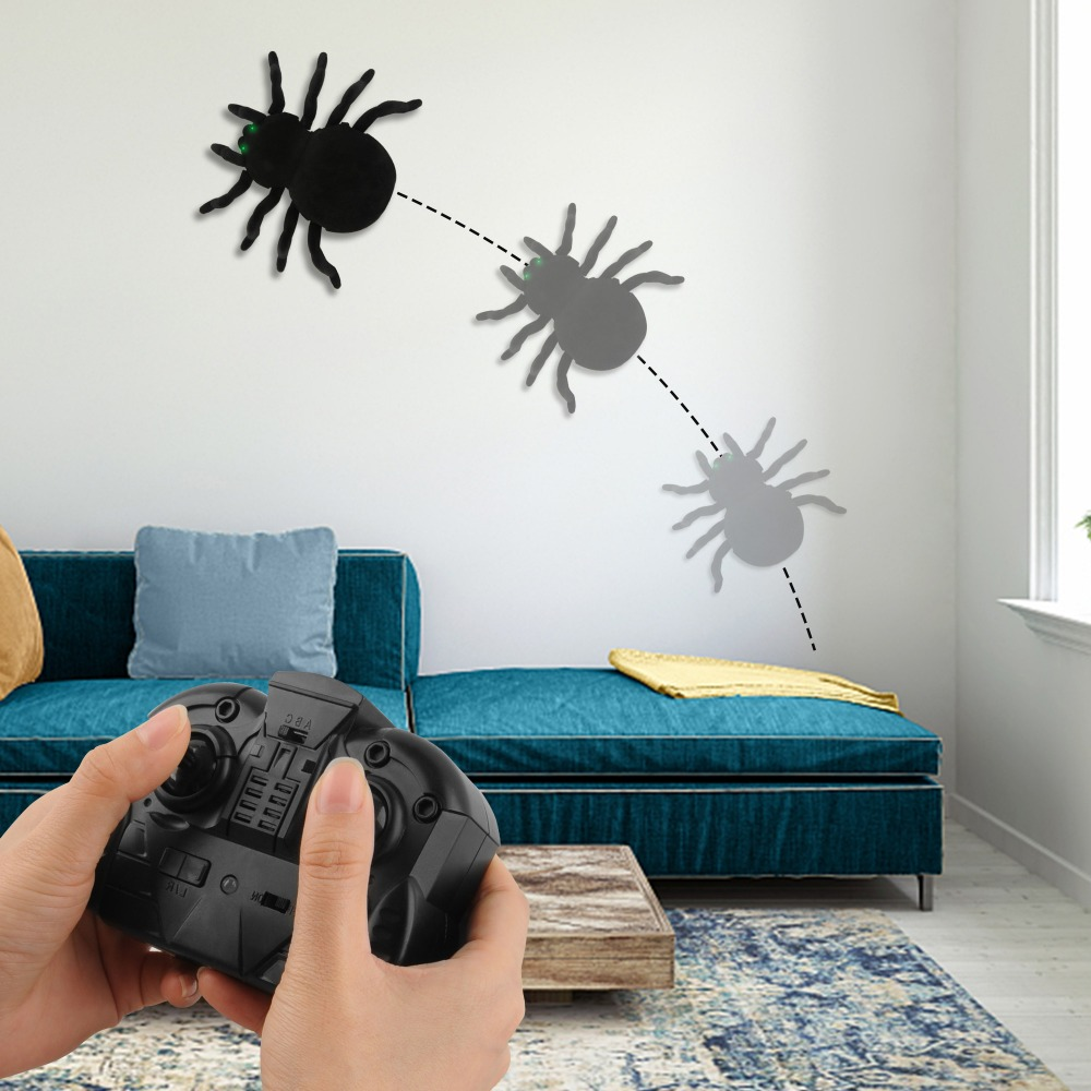 Image 4 - Radio Control RC Animals Simulation Furry Tarantula Electronic Halloween Spider Toy Children Kids Gift Halloween Festival Toys-in RC Robots & Animals from Toys & Hobbies