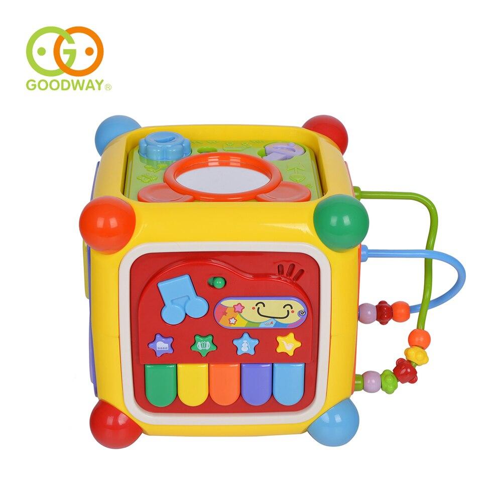 Juguetes de bebé GOODWAY actividad Musical cubo Play Center juguete con Piano 6 funciones y habilidades de aprendizaje juguetes educativos para niños Juego