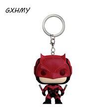 Marvel Super Hero Daredevil Vinyl Action Figures Children Toy Keychain With Retail Box