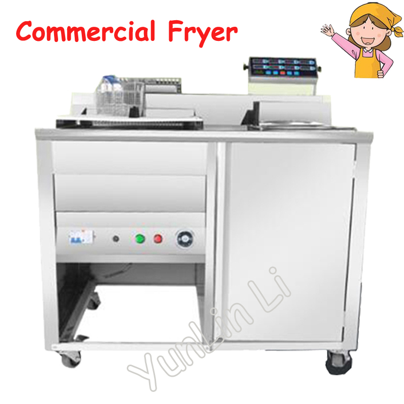 Removable Electric Deep Fryer Commercial Fryer Intelligent Control Frying Machine Electric Chicken Steak Snack Frying Car