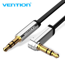 Vention 3.5mm Jack Audio Cable 3.5 Male to Male Cable Audio 90 Degree Right Angle AUX Cable for Car Headphone MP3/4 Aux Cord(China)